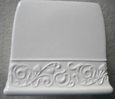 FACIAL TISSUE BOX COVER WHITE CERAMIC FROM JC PENNEY
