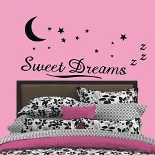 Quote Sweet Dreams Moon Star Art Vinyl Wall Stickers Decals Kids Baby Room Decor