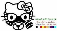 HELLO KITTY GAS MASK ZOMBIE Adhesive Vinyl Decal Sticker Car Truck Window 6""