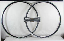Vintage NOS AMBROSIO BALANCE 700c 32h BLACK CLINCHER RIM SET Mint New Old Stock
