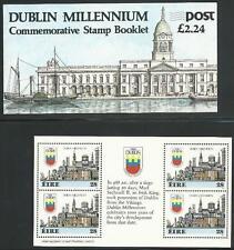 Irland aus 1988 ** postfrisch MH + Heftchenblätter MiNr.642 - 1000 Jahre Dublin!