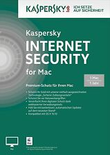 Kaspersky Internet Security-para Mac - 1 año fresan. - de/EN/FR + multiling.