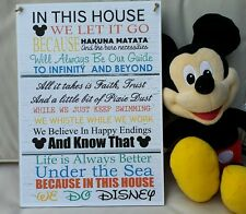 Disney Inspired Large A4 House Rules Plaque
