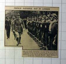 1942 French National Day In London General De Gaulle Adml Muselier