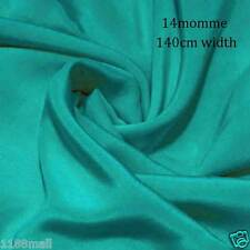 "1Yard #7w (Scuba blue)  55"" wide 14momme Pure Silk Crepe De Chine"