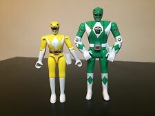 Mighty Morphin Power Rangers Shark Cycle Yellow Ranger, Green Flip Head, Bandai