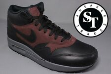 NIKE AIR MAX 1 ONE MID DELUXE QS 726411-002 BLACK BARKROOT BROWN DS SIZE: 10