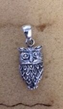 STERLING SILVER WISE OWL PENDANT