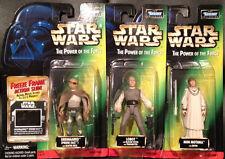 """Star Wars POTF 4"""" Action Figures Lot of 3 Lobot Orrimaarko & Mon Mothman NEW"""