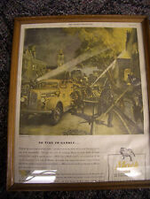 Vintage 1944 Mack truck Fire Engine Newspaper Add