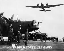 RAF WW2 Vickers Wellington Bomber Crew 8x10 Photo No 300 Polish Squadron WWII