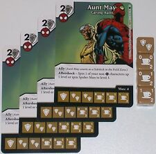 4 X AUNT MAY: CARING AUNT 36/142 The Amazing Spider-Man Dice Masters