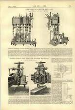 1888 Compound Launch Engines Plenty Thomas Martin Morfa Copper Tool Rest
