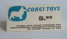 Rare 1960's Dutch Corgi Toys Shop Display, No. 483, Dodge Truck, - Superb