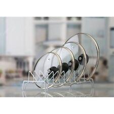 Kitchen Bakeware Pot Lid Rack Holder Organizer (white)