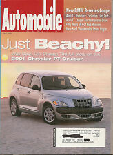 Automobile June 1999 - Chrysler PT Cruiser - Ford Thunderbird - Audi TT Coupe