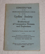 Constitution Ladies Society of Brotherhood of Locomotive Firemen Enginemen 1947