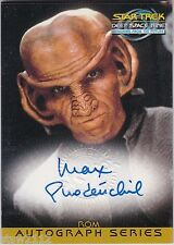 STAR TREK DEEP SPACE NINE DS9 MEMORIES MFTF A17 MAX GRODENCHIK ROM AUTOGRAPH