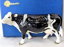Holstein Cow Jeweled Pewter Trinket Box Dairy Farm Home Decor