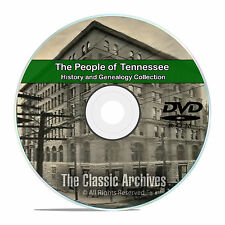 Tennessee TN, People Cities Towns History and Genealogy 92 Books DVD CD B16