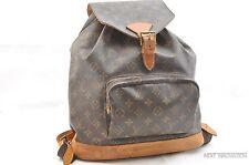 Authentic Louis Vuitton Monogram Montsouris GM Backpack M51135 LV 26973