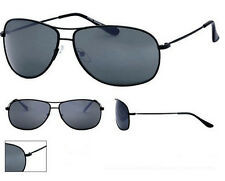 Full Mens Classic Style Sunglasses Smokey Tint Lens Black Metal Frame UV400 NWT