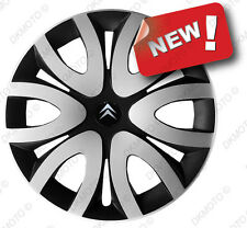"4x15"" Wheel trims Wheel covers fit Citroen Nemo Xsara Picasso 15"" silver/black"