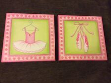 SHIPS FAST Sandy Russell Canvas Art Ballet Hanging Picture Pink Roses Flowers