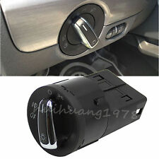 FOR VW GOLF JETTA MK4 PASSAT B5 POLO SHARAN HEAD LIGHT SWITCH CHROME CONTROL