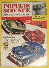 Popular Science May 1951 Magazine Little Cars Great Pictures Nice See!