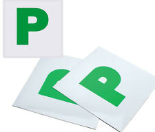 2 x P Plate Passed Pass Fully Magnetic Green New Driver Car Plates Exterior New