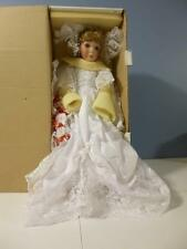 """Stephanie Victorian doll porcelain full body bisque HSN exclusive Kais 24"""" Bride"""