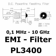 4x pl3400 filtro EMI 0,1mhz-10ghz 4-40 C-Circuit resin sealed bolt-en filtro