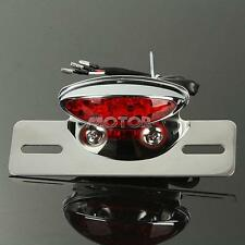 Motorcycle Bike ATV LED Tail Brake Light Custom License Plate Holder Cafe Racer