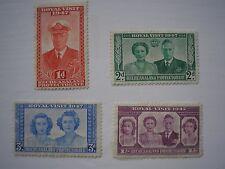 Royal Visit Stamps Bechuanaland1947, set of 4