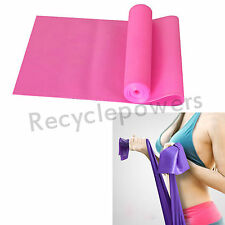 Pink 1.5M Yoga Pilates Rubber Stretch Resistance Exercise Fitness Band Practice