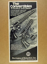 1977 H&R Model 676 Convertible .22 22 Revolvers photo vintage print Ad