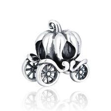 CINDERELLA Pumpkin Carriage Charm Perline-Argento Sterling 925-Fashion Design