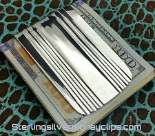 83.7g BRITISH CLASSIC FULL FOLD 935 925 Argentium Sterling Silver Money Clip USA