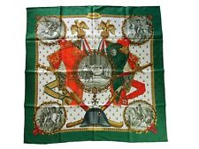 """Authentic HERMES Silk """"Jacquard"""" Scarf with Box - NAPOLEON"""