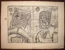 carte geographique vue de ROMAN et GRENOBLE par BRAUN et HOGENBERG 1572