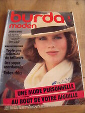 MAGAZINE BURDA MODEN ROBES CHIC COLLECTION DE TAILLEURS   09/1983