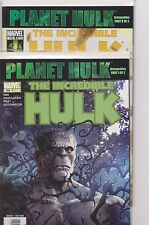 The Incredible Hulk x 2 Planet Hulk Armageddon 1-2