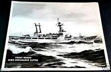 Vintage US Coast Guard W715 USCGC HIGH ENDURANCE CUTTER Boat Ship 8X10 Photo