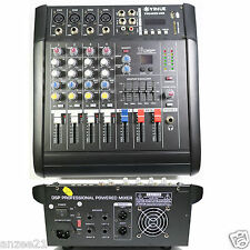 Pro 4 Channel Stage Karaoke Live Mixing console 800W Power Amplifier Mixer