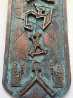 Patinated Stargate Cartouche, Egyptian Wall Display. 5.5