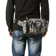 Multi-Function Men Military Tactical Waist Bag Camp Shoulder Backpack Waterproof