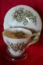 VINTAGE ROYAL ALBERT  CUP AND SAUCER BLOSSOM TIME SERIES MADE IN ENGLAND UNUSUAL
