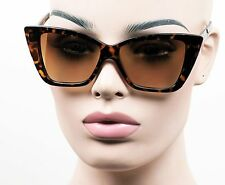 Large Retro Cat Eye Sunglasses 50s Pinup Vintage Style Brown Tortoise K624