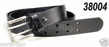 New Mens 2 Double Holes Dress Casual Cowhide  Leather Belt 2 Prong Roller Buckle
